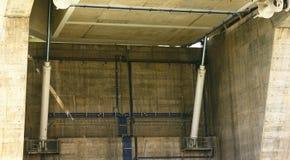 Hydraulic pistons drawbridge Stock Photography