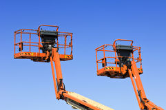 Hydraulic platforms Stock Images