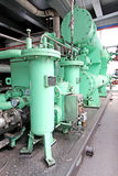 hydraulic power system in a power plant Stock Image