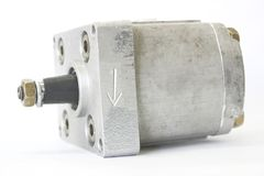 Hydraulic pump. At the white background Royalty Free Stock Photography