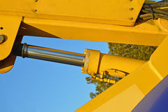A Hydraulic Ram. On a cherry picker stock photography