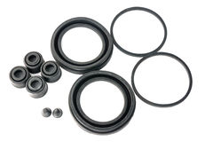 Hydraulic rubber seal and o'ring Royalty Free Stock Images