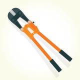 Hydraulic shears isolated vector Stock Photos