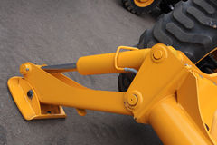 Hydraulic support. Folding hydraulic support on ground Stock Photography