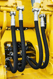 Hydraulic system for bulldozers, tractors, excavators Royalty Free Stock Photo