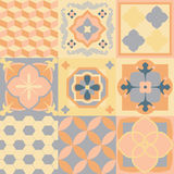 Hydraulic tiles. Hydraulic cement tiles vintage design Stock Photo
