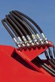 Hydraulic Tubes Stock Image