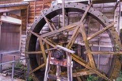 Hydraulic turbine by japanese style  of Magome  in Nagano Prefec Stock Photos