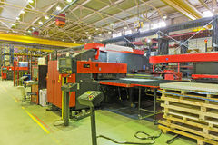 Hydraulic turret punch press Stock Images