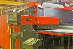 Hydraulic turret punch press Royalty Free Stock Photo