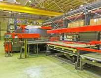 Hydraulic turret punch press Royalty Free Stock Image