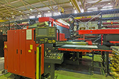 Hydraulic turret punch press Royalty Free Stock Photos