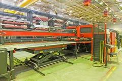Hydraulic turret punch press Stock Photos