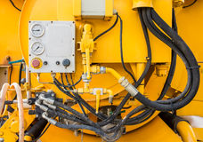 Hydraulic vacuum truck royalty free stock photography
