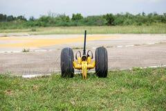 Hydraulic wheel for move helicoptor. Hydraulic wheel tool for move helicoptor Stock Photography