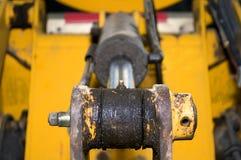 Hydraulica en graafwerktuigontwerp stock foto
