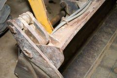 Hydraulica en graafwerktuigontwerp stock afbeelding