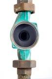 Hydraulica en reparatie, oude hydraulische delen op een witte achtergrond royalty-vrije stock afbeelding