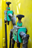 Hydraulics equipment, hydraulics system in industry or hard work Stock Photo