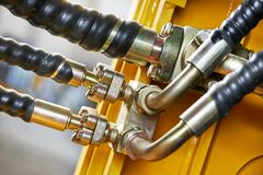 Hydraulics of machinery Stock Photography