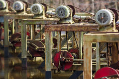 Hydraulics  test preparation for water management Stock Images