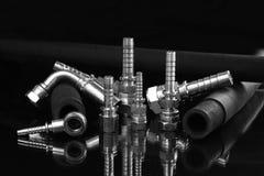 Hydrauliczna linia i ferrule dla przemysłu obrazy royalty free