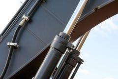 Hydrauliczna Maszynowa ręka Piszczy ekskawator Fotografia Stock