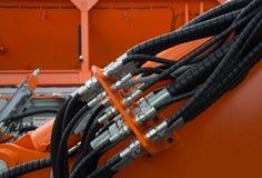 Hydrauliczne tubki i dopasowania Fotografia Royalty Free