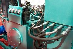 Hydrauliczni agregaty dla przejażdżki pracujące bodies prasy Obrazy Royalty Free
