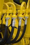 Hydrauliczni węże elastyczni obrazy stock