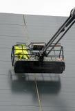 Hydrauliczny dźwignięcie z pracownikiem Obrazy Stock
