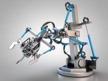 Hydrauliczny przemysłowy robot ilustracji