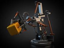 Hydrauliczny przemysłowy robot ilustracja wektor