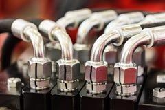 Hydrauliczny wyposażenie nowożytny ciągnik obraz royalty free