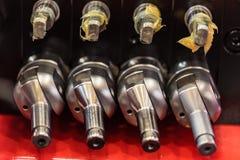 Hydrauliczny wyposażenie nowożytny ciągnik obrazy stock