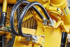 Hydraulik av maskineri Arkivfoto