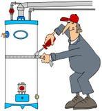 Hydraulik instaluje trzęsienie ziemi patki Obrazy Stock
