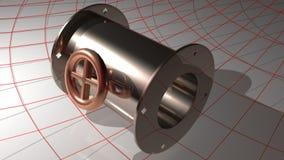 Hydraulik, Rohre und Ventile vektor abbildung