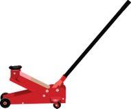 Hydraulik-Wagenheber, mechanisch und Karosserie stock abbildung