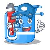Hydraulika miniaturowy tuba w kształt kreskówce ilustracji