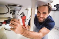Hydraulika naprawianie pod zlew obrazy stock