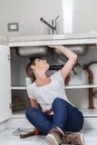 Hydraulika pipework testowanie czy Obraz Royalty Free