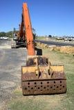 Hydraulikbagger- oder Gräberkran in Australien Lizenzfreies Stockfoto