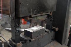 Hydraulisch drücken Sie backsmith Werkstatt ein lizenzfreies stockbild