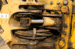 Hydraulisch vom Mechanismus lizenzfreie stockfotos