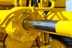 Hydraulisch zuigersysteem Stock Afbeelding