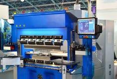 Hydraulische blad buigende machine voor bladmetaal het buigen royalty-vrije stock foto