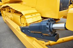 Hydraulische cilinder Royalty-vrije Stock Afbeeldingen