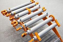 Hydraulische cilinders stock afbeelding