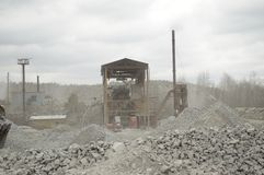 Hydraulische graver stock foto's